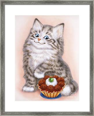 Little Grey Kitten  Framed Print
