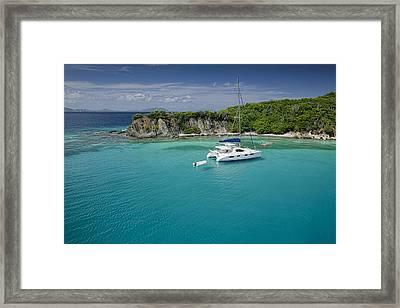 Little Harbor, Peter Island Framed Print