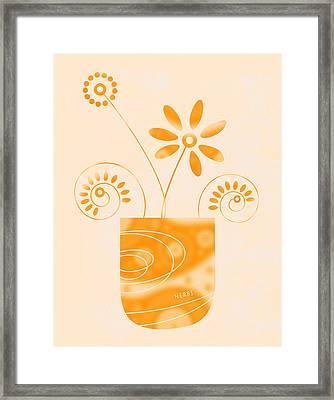 Little Herb Garden Framed Print by Frank Tschakert