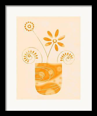 Home Grown Drawings Framed Prints