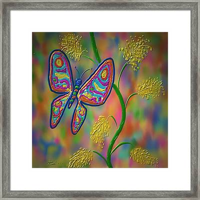 Framed Print featuring the digital art Little Hip Butterfly by Kevin Caudill