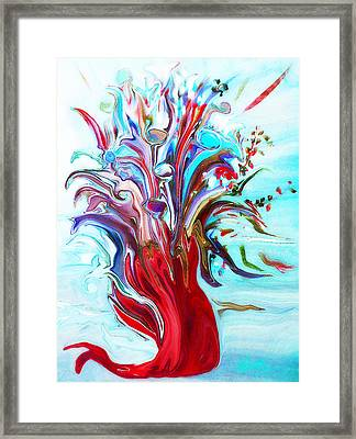 Abstract Little Mermaid Vase  By Sherriofpalmsprings Framed Print