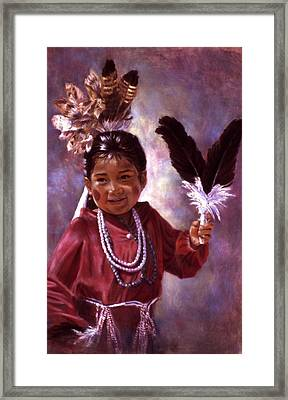 Little Hopi Dancer Framed Print