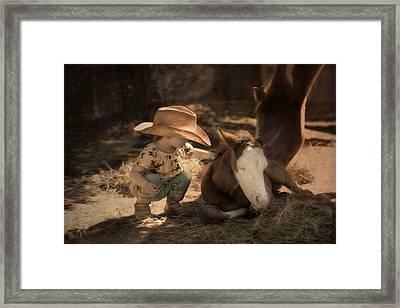 Little Horse Whisperer Framed Print by Robin-Lee Vieira