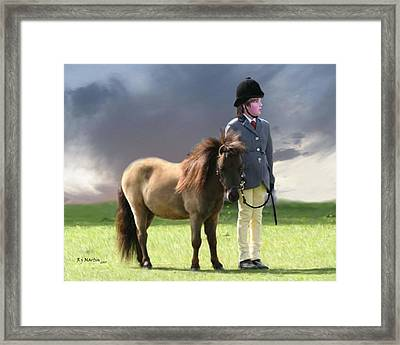 Little Horseman Framed Print