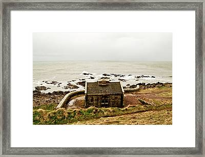 Little House At The Nigg Bay. Framed Print