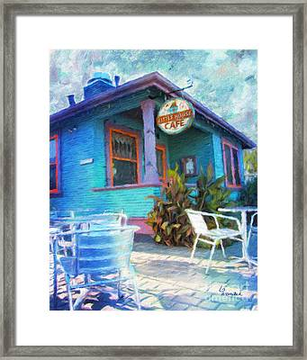 Little House Cafe  Framed Print by Linda Weinstock