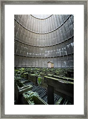 Framed Print featuring the photograph Little House Inside Industrial Cooling Tower by Dirk Ercken