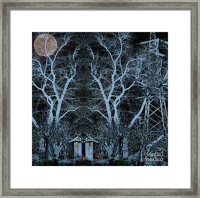 Little House In The Woods Framed Print