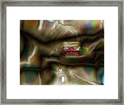 Little House On The Abstract Prairie Framed Print