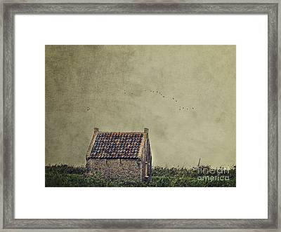 Little House On The Field Framed Print by Ivy Ho