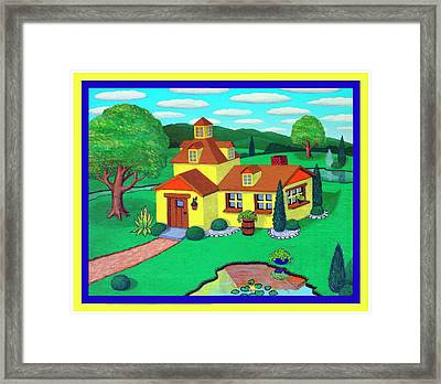 Little House On The Green Framed Print by Snake Jagger