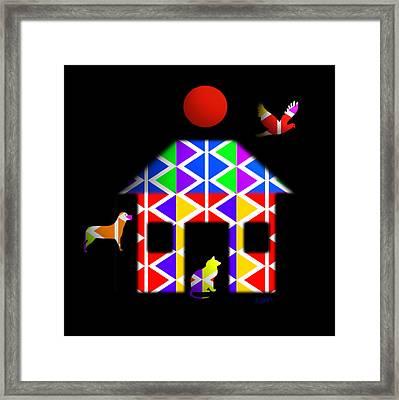 Little House On The Prairie Framed Print