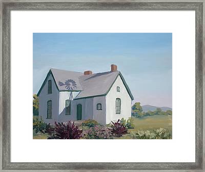 Little House On The Prairie Framed Print by Mary Giacomini