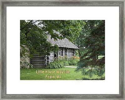Little House Wayside Card Framed Print