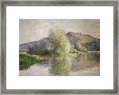 Little Islands At Port-villez Framed Print by Claude Monet