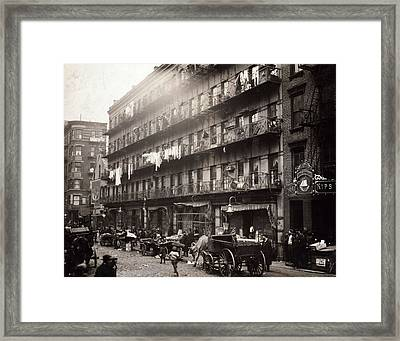Little Italy, A Row Of Tenements Framed Print by Everett