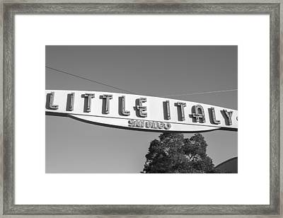 Little Italy Monochrome Framed Print
