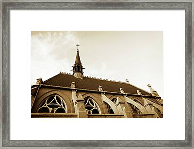 Little Ivy Chapel Fairmount Cemetery Framed Print