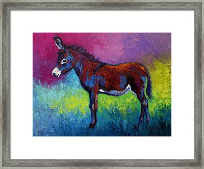 Little Jenny - Burro Framed Print by Marion Rose