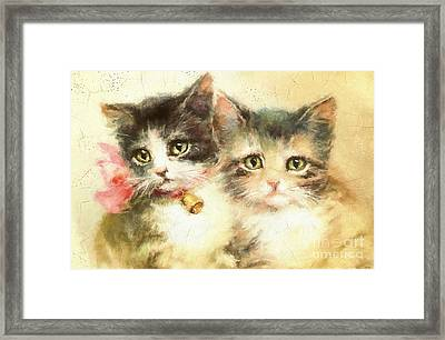 Little Kittens Framed Print