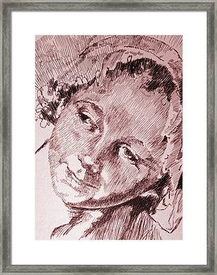 Little Lady Framed Print by Robbi  Musser