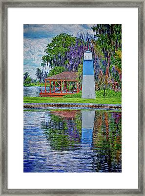Framed Print featuring the photograph Little Lake Lightouse by Lewis Mann