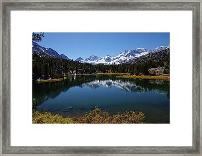 Little Lakes Valley Eastern Sierra Framed Print