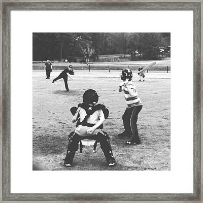 Little League Framed Print by Haley Edwards