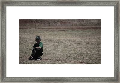 Little League Framed Print by Lakida Mcnair