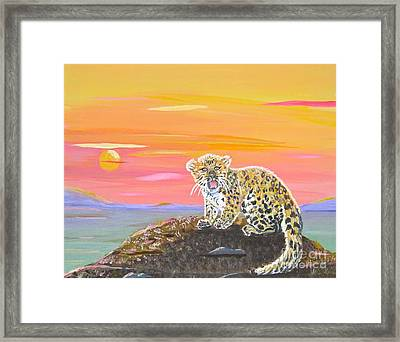 Framed Print featuring the painting Little Leopard by Phyllis Kaltenbach