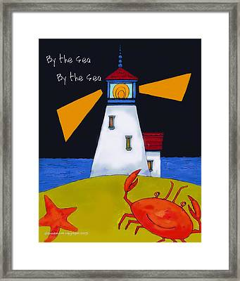 Little Lighthouse By The Sea Framed Print