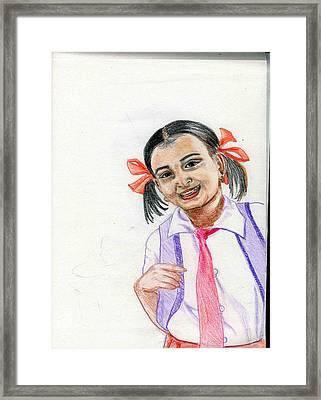 Little Manju Framed Print by Asha Sudhaker Shenoy