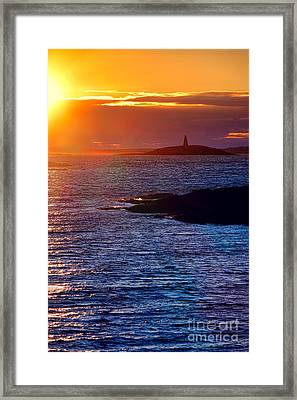Little Mark Island At Sunset Framed Print