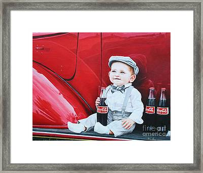 Framed Print featuring the painting Little Mason by Mike Ivey