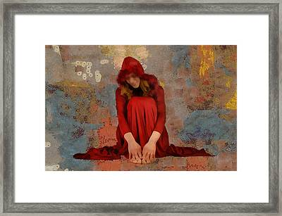 Framed Print featuring the mixed media Little Mel Riding Hood by Trish Tritz
