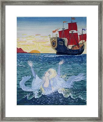 Little Mermaid Framed Print by Lorenz Frolich
