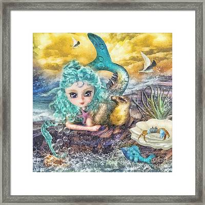 Little Mermaid Framed Print by Mo T