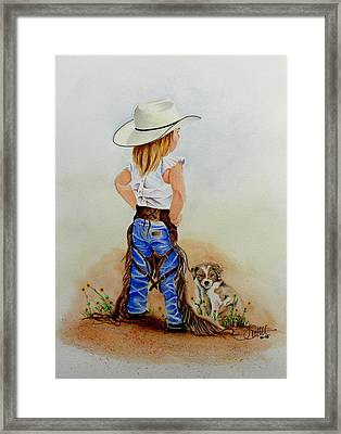 Little Miss Big Britches Framed Print