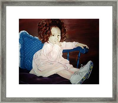 Framed Print featuring the painting Little Miss Hassler by Kevin Callahan