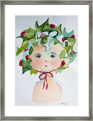 Little Miss Innocent Ivy Framed Print by Mindy Newman
