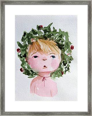 Little Miss Merry Framed Print by Mindy Newman