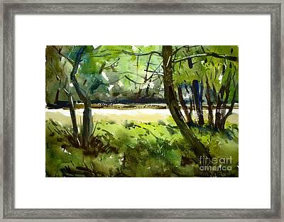 Little Mississinewa Running Wild Matted Glassed Framed Framed Print by Charlie Spear