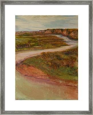 Little Missouri Overlook  Framed Print by Helen Campbell