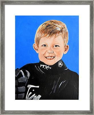 Little Mister G Framed Print