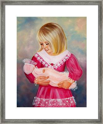 Little Mommy Framed Print by Joni McPherson