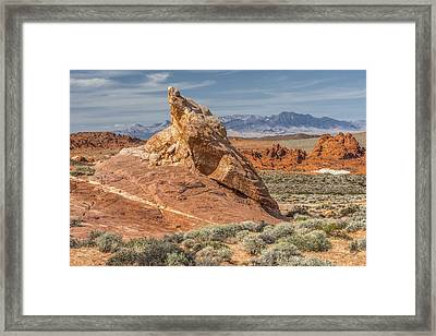 Little Monument In Valley Of Fire Framed Print