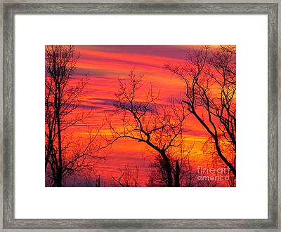 Little More Color At Sunset Framed Print