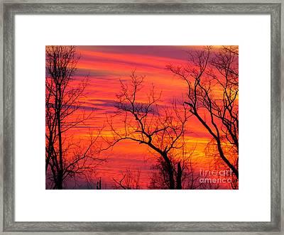 Little More Color At Sunset Framed Print