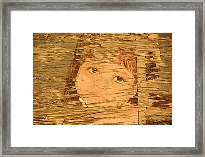 Little Mountain Girl Framed Print by Tingy Wende